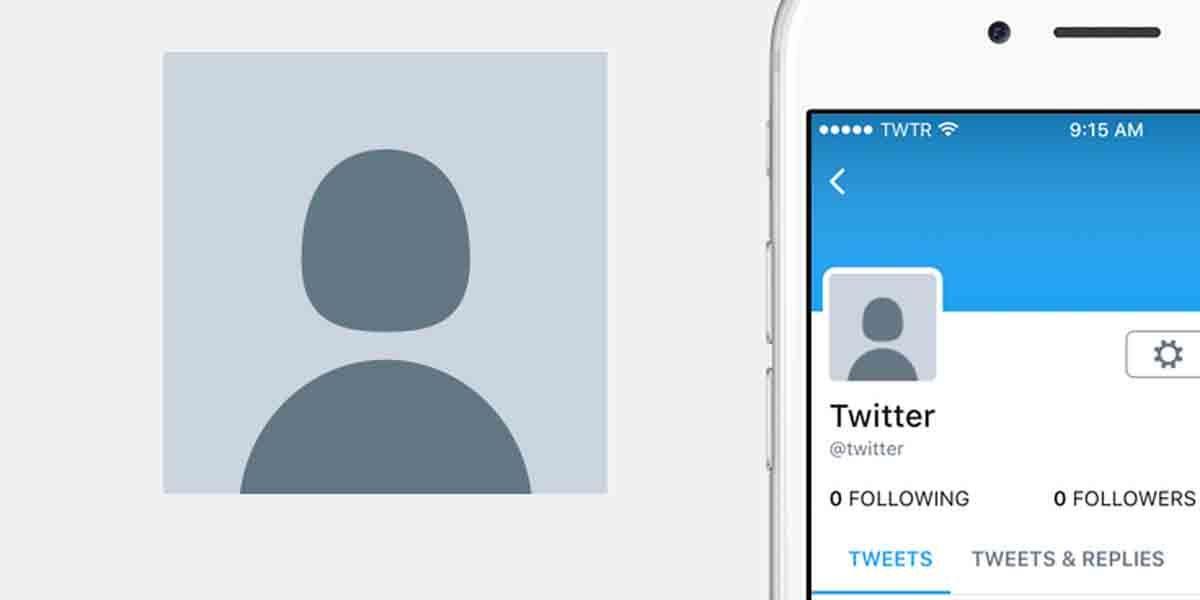 Foto perfil Twitter con mala calidad