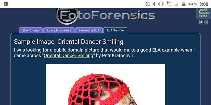 Fotoforesincs web para detectar photoshop