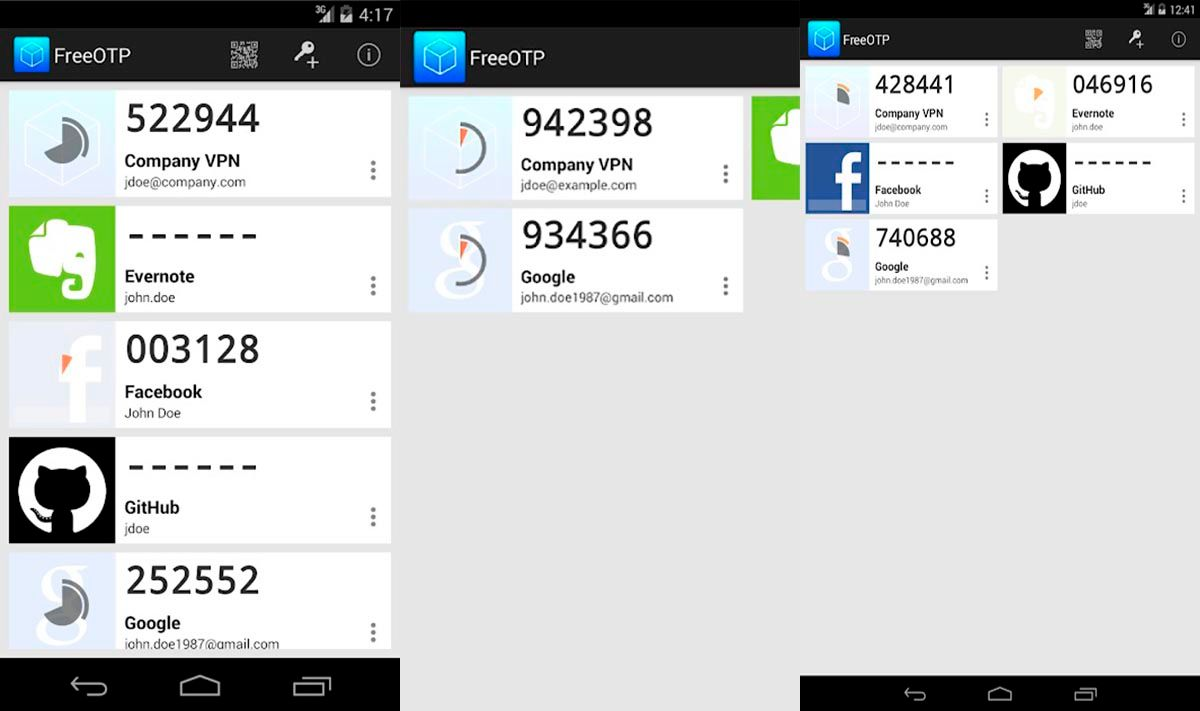 FreeOTP Authenticator