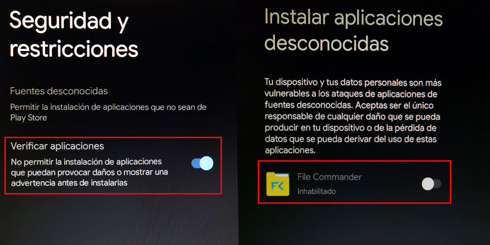 Activar fuentes desconocidas en Chromecast con Google TV