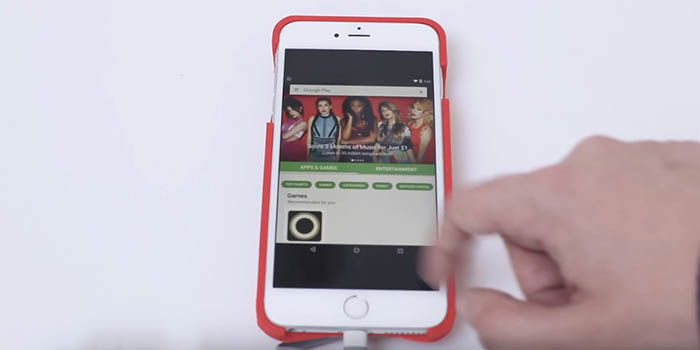 Funda para iPhone con Android