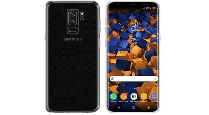 Funda transparente minimalista galaxy s9 plus