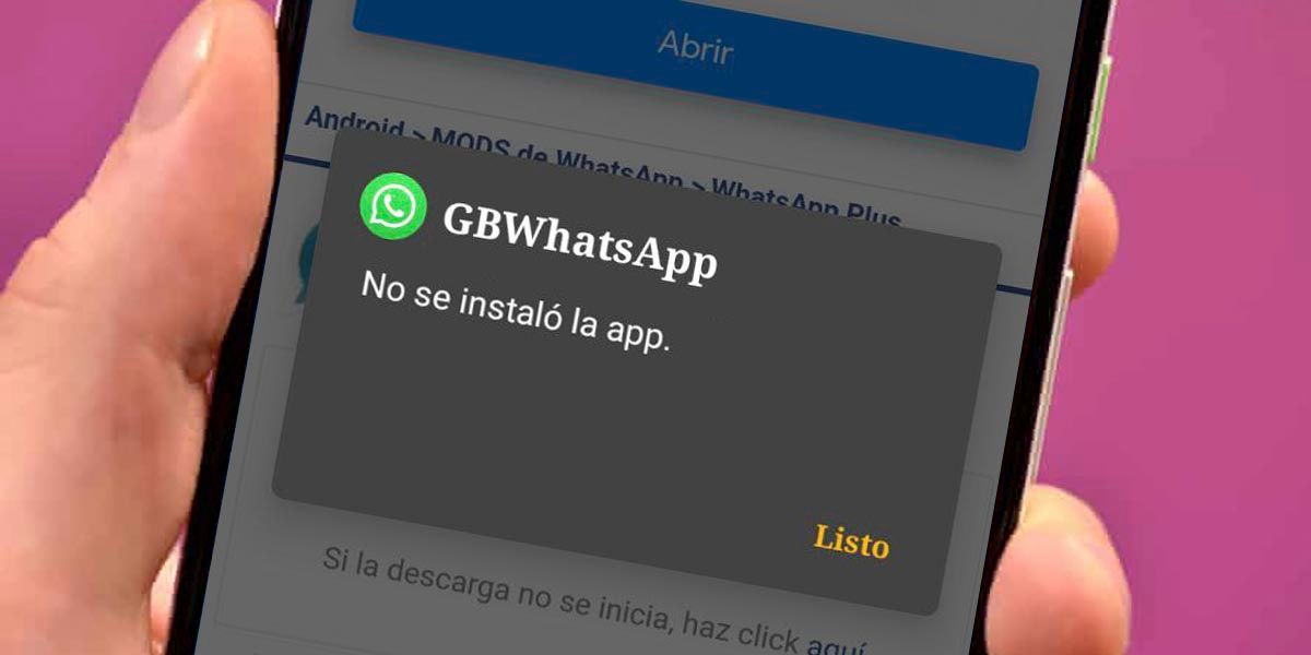 GBWhatsApp no se instalo la app solucion