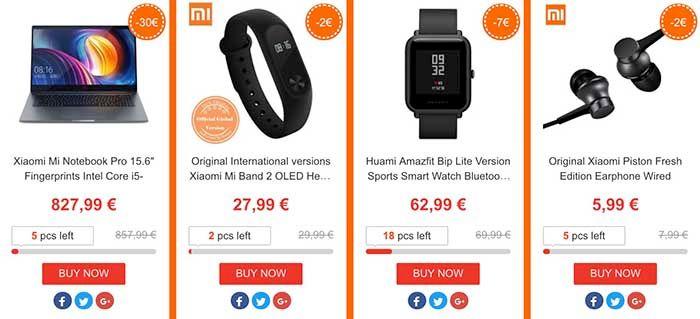 Gadgets Xiaomi oferta Geekmaxi