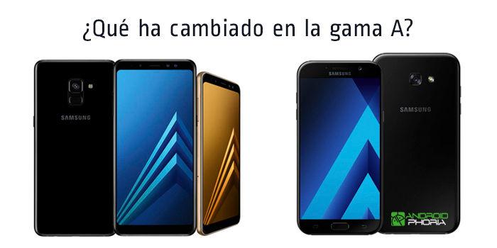 Galaxy A8 y A8+ vs A5 y A7