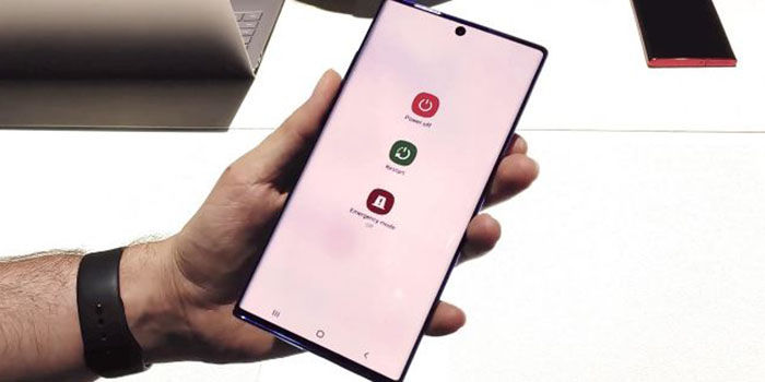 Galaxy Note 10 reiniciar