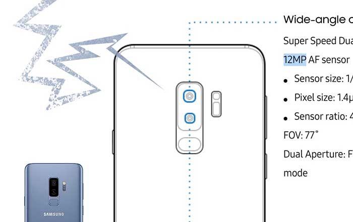 Galaxy Note 9 especificaciones camara