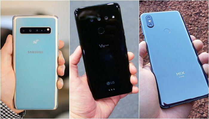 Galaxy S10 5G vs LG V50 5G vs Xiaomi Mi Mix 3 5G parte trasera