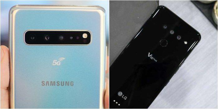 Galaxy S10 5G y LG V50 5G camaras