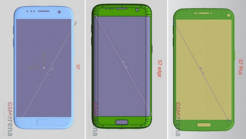 Galaxy S7 Plus: Renders