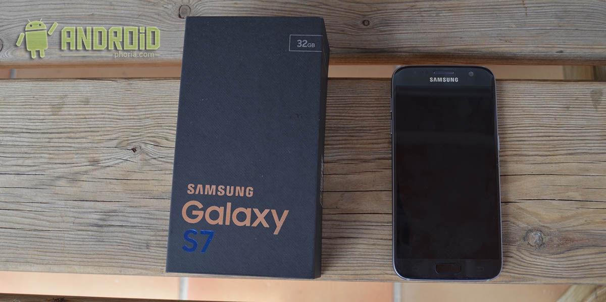 Galaxy S7 y caja