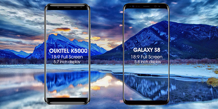 Galaxy S8 vs Oukitel K5000