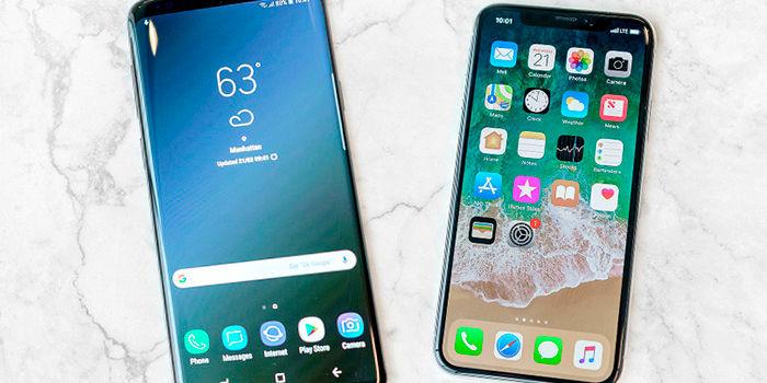 Galaxy S9, S9+ vs iPhone X