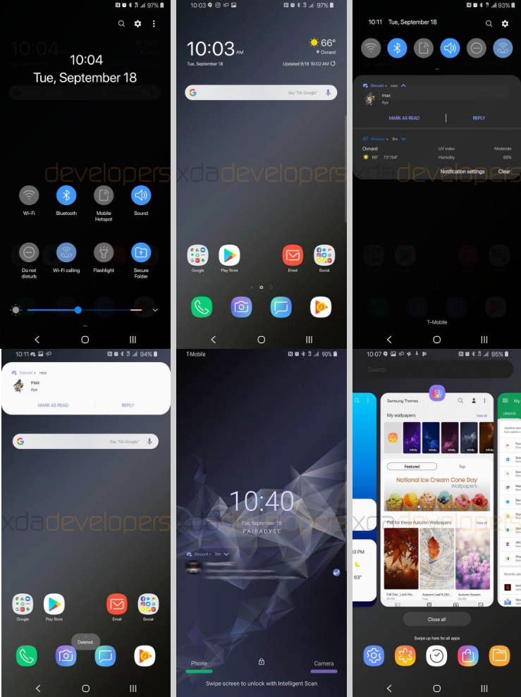Galaxy S9 con Samsung Experience 10
