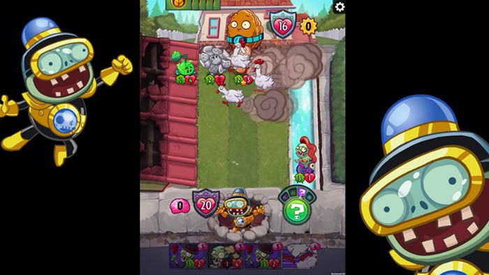 Gameplay Plants vs Zombies Heroes