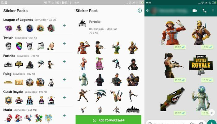 Games stickers for Whatsapp fortnite