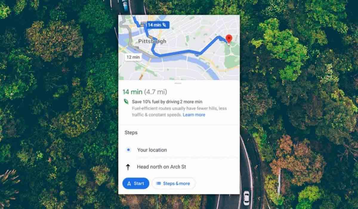 Gastar menos combustible Google Maps