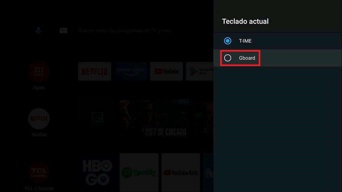 Gboard para Android™ TV