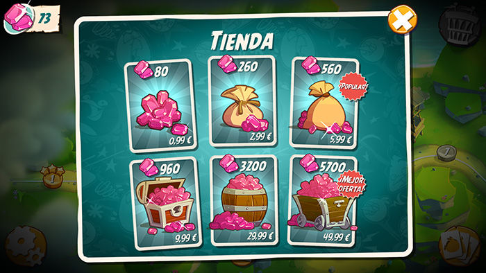 Gemas gratis en Angry Birds 2