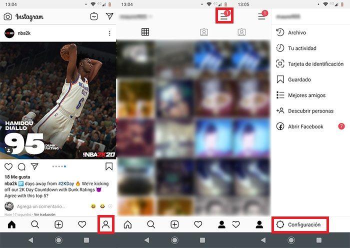 Gestionar notificaciones de Instagram