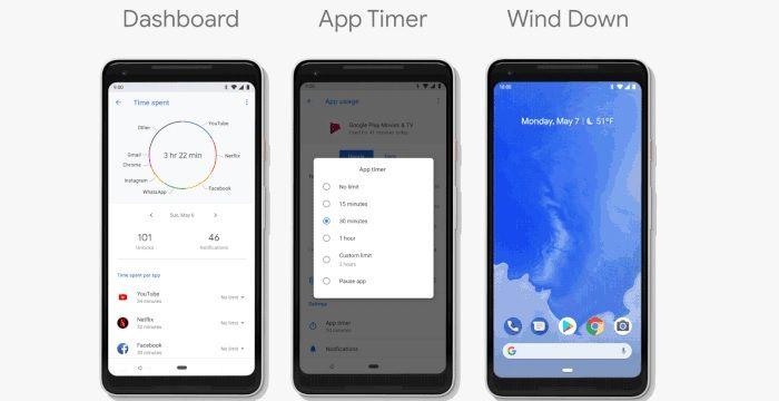 Gestor de tiempo Android Pie