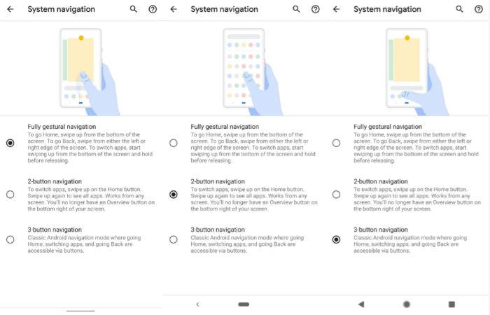 Gestos navegacion Android Q