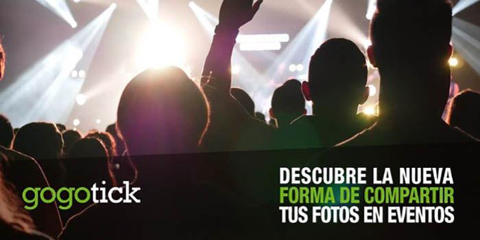 Gogotick aplicacion compartir fotos eventos