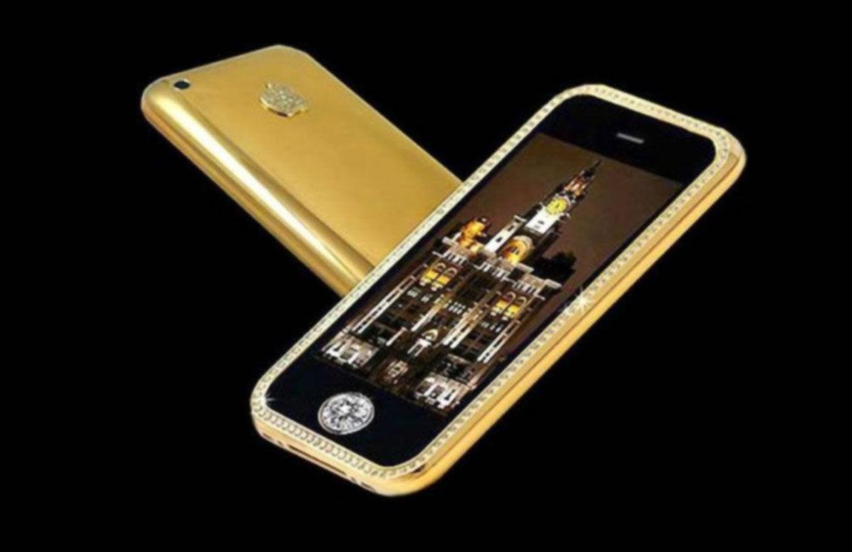 Goldstriker iPhone 3GS Supreme, el móvil más caro de la historia con tantos diamantes y oro