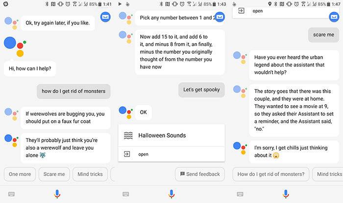 Google Assistant comandos de Halloween