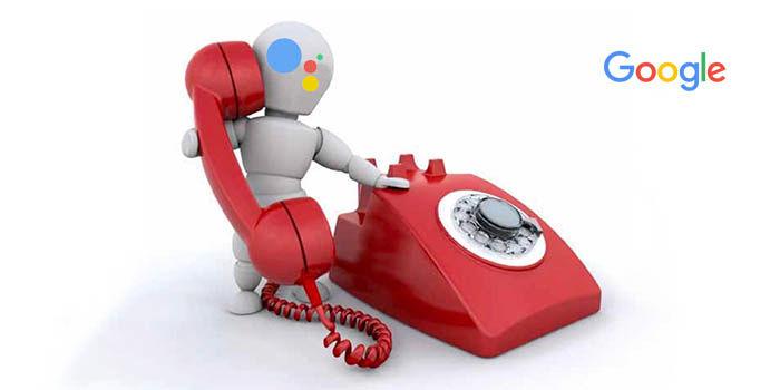 Google Assistant llamando