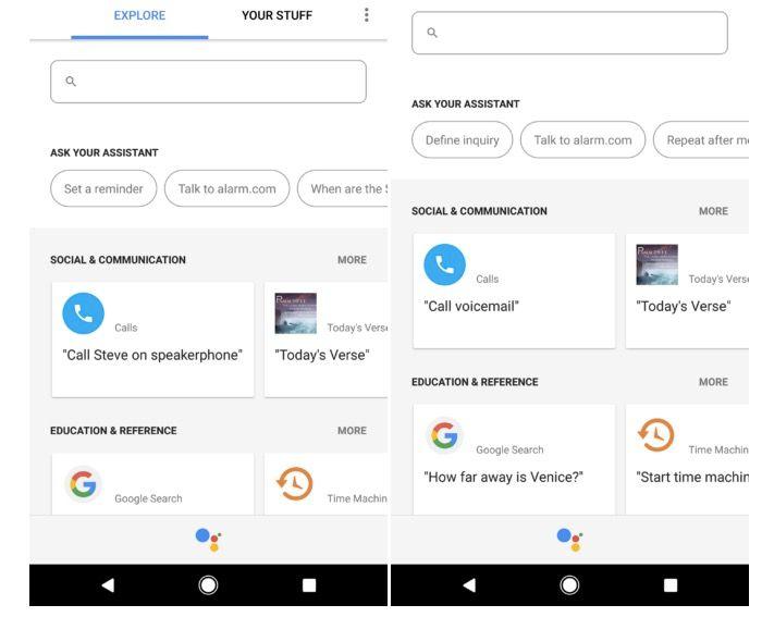 Google Assistant nueva barra busqueda