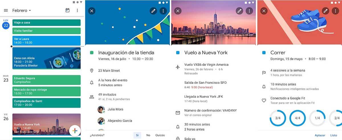 Google Calendar app de agenda y organizacion