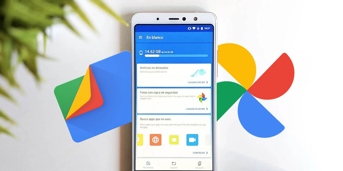 Google Files almacenamiento inteligente