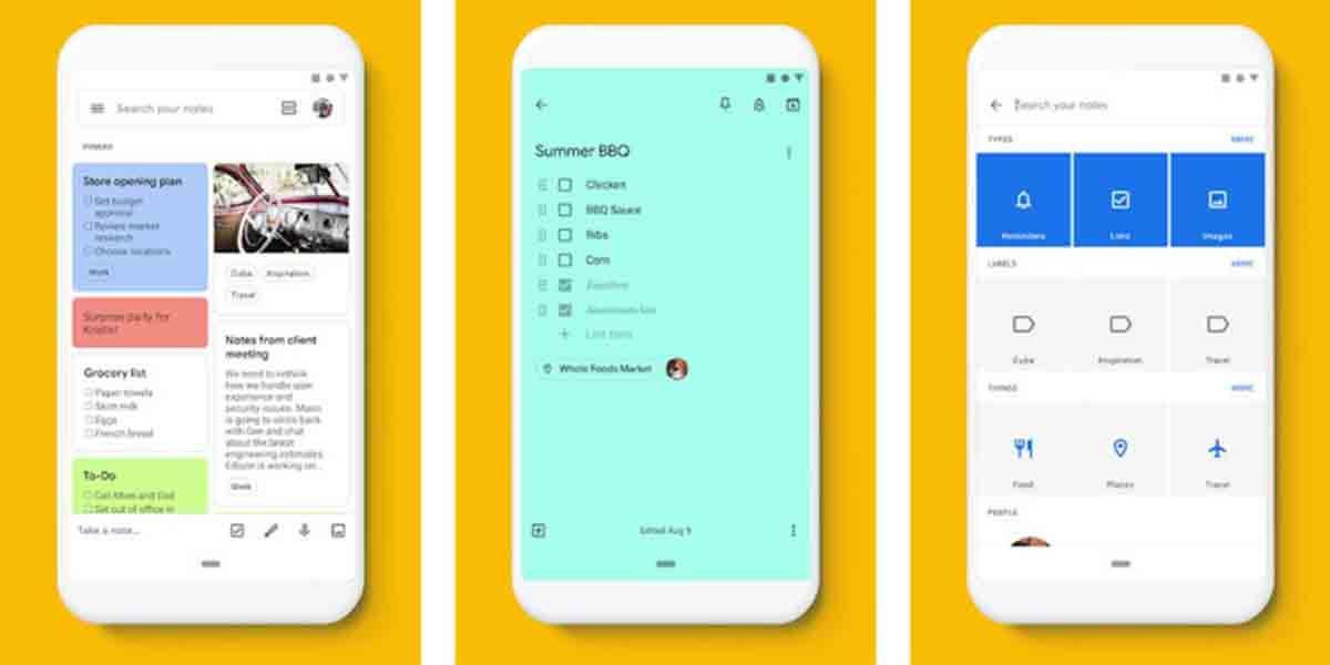 Google Keep app mejorar publicidad