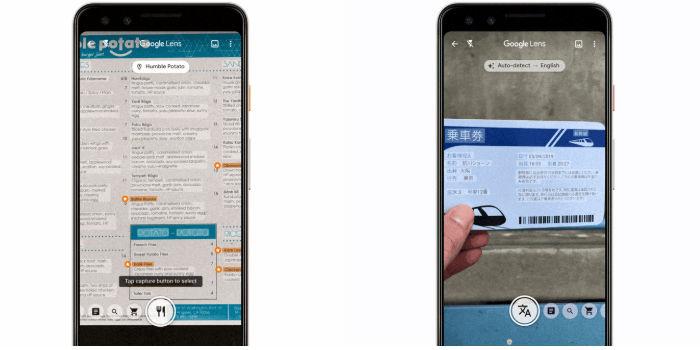 Google Lens traductor en tiempo real