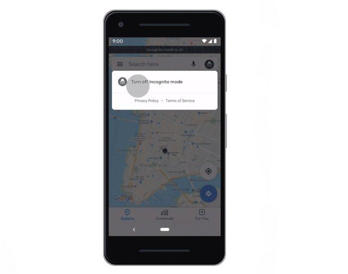 Google Maps Modo Incógnito Desactivar