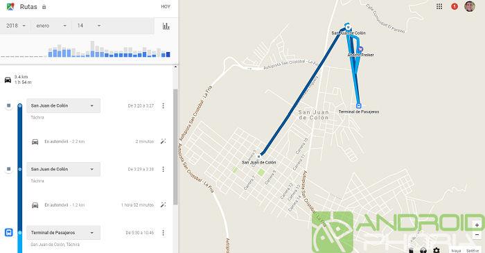 Google Maps Rutas encontrar dispositivo captura