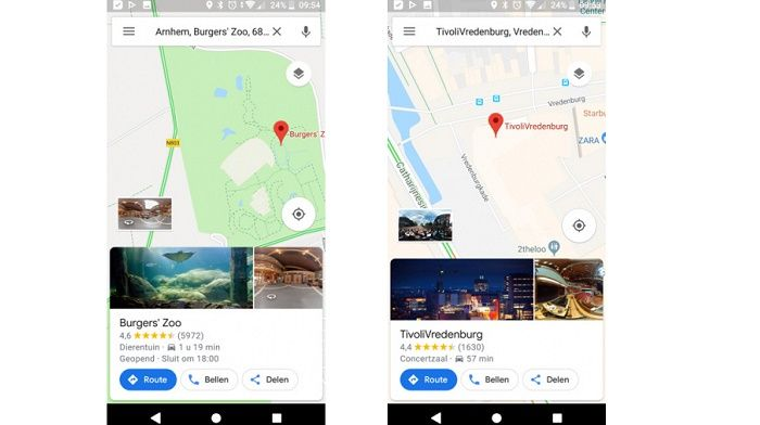 Google Maps cambios versión 9.77 b