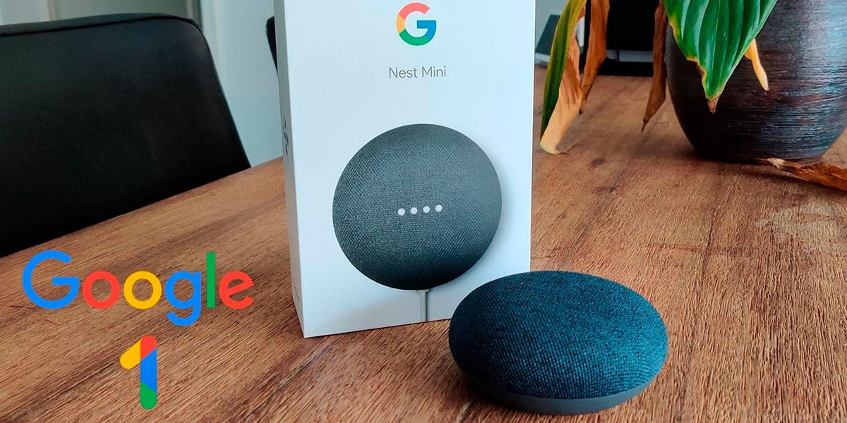 Google Nest Mini gratis con Google One 2 TB