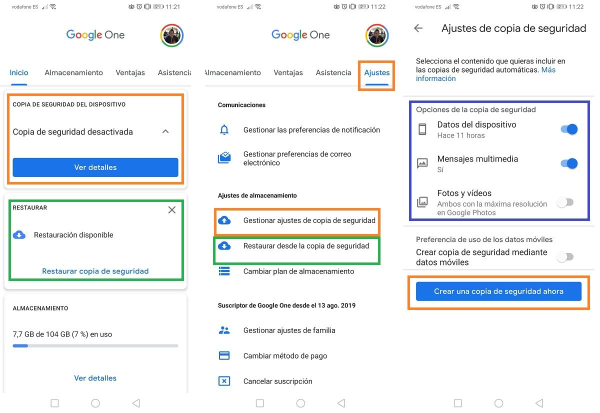 Google One Copia de Seguridad 2