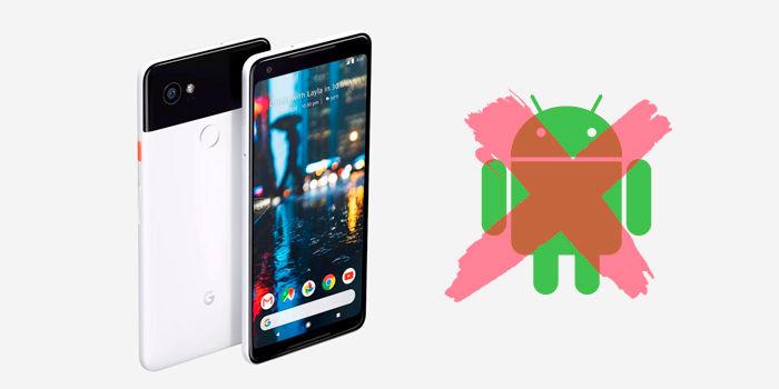 Google Pixel 2 XL sin Android instalado