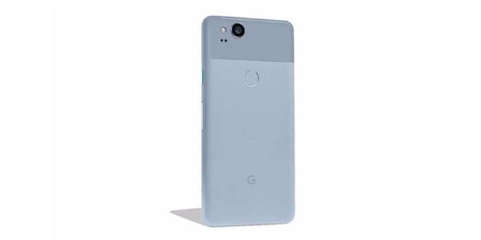 Google Pixel 2 azul trasera
