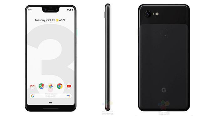 Google Pixel 3 XL render oficial