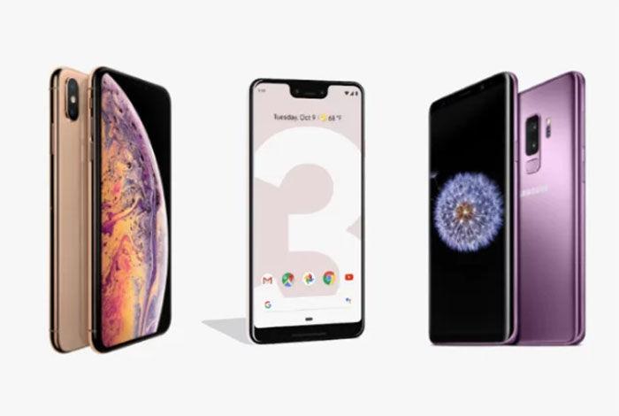 Google Pixel 3 vs iPhone XS vs Galaxy S9 comparativa