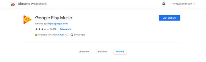 Google Play Music extension