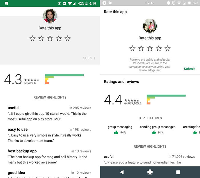 Google Play cambia de interfaz
