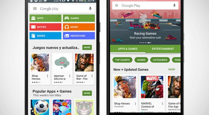 Google Play 6.0 rediseño