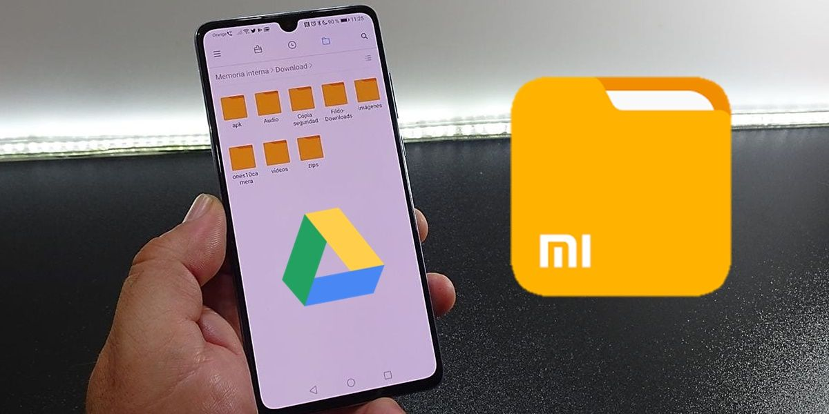 Google drive gestor de archivos Xiaomi