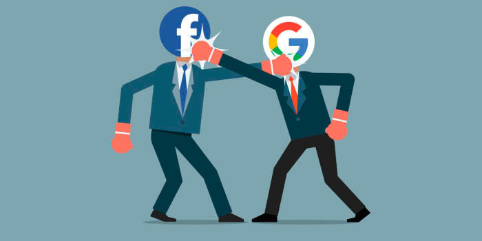 Google guarda mas informacion que Facebook