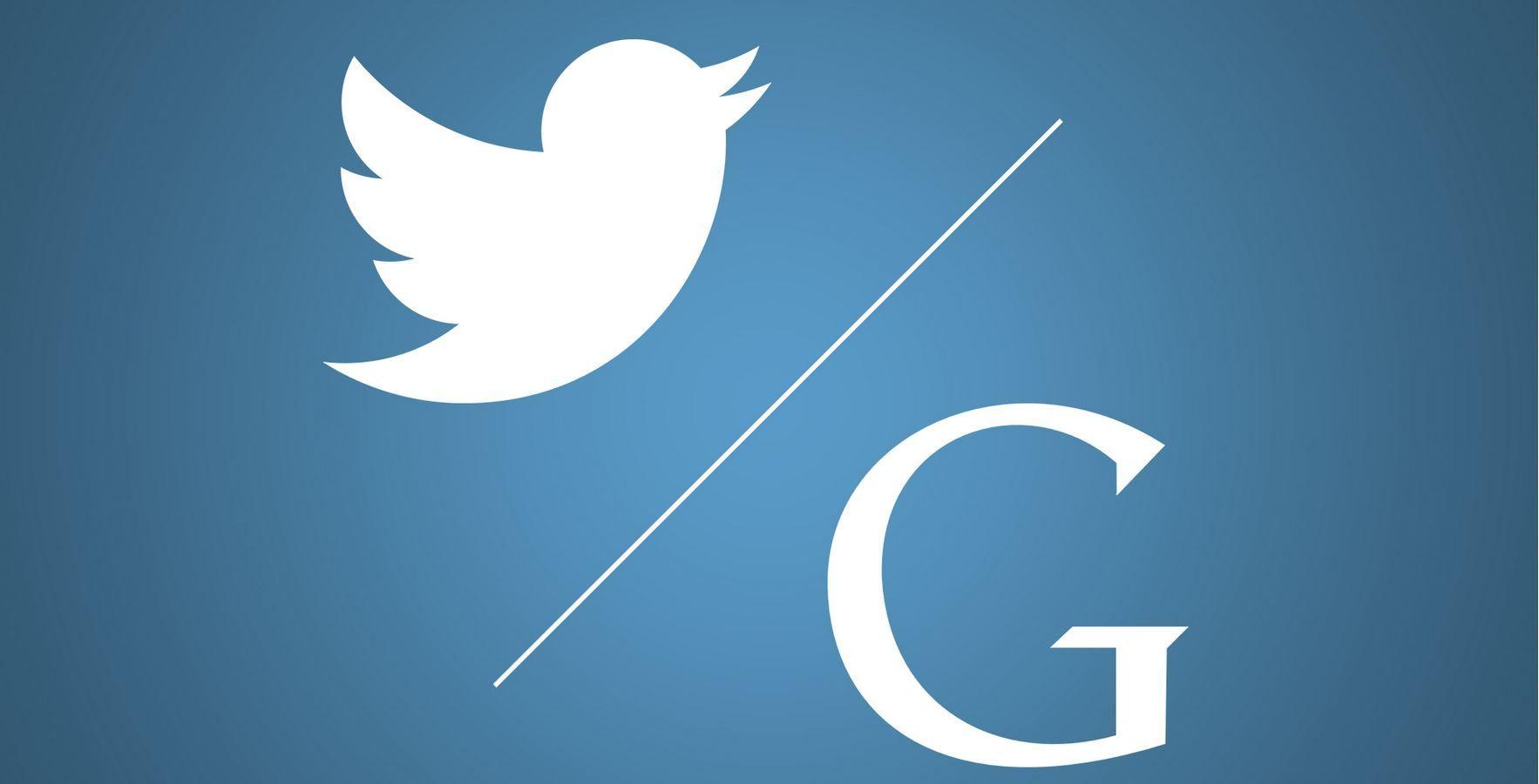 Google muestra tweets